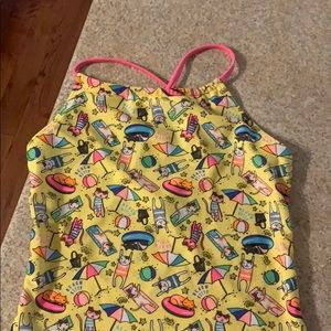 Girls cat bathing suit XL (14/16) NWOT